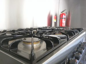 Lincat 6 burner hob and double oven