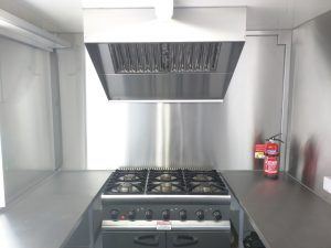 1metre stainless extraction canopy